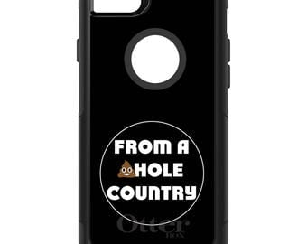 OtterBox Commuter for Apple iPhone 5S SE 5C 6 6S 7 8 PLUS X 10 - Custom Monogram - Any Colors - From a Sh!thole Country - Trump