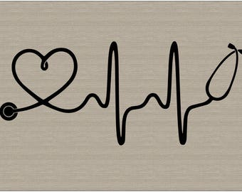 vehicle decals, vehicle stickers, nurse decal, stethoscope decal, heartbeart, nurse decals, nursing, doctors, vehicle decal, vinyl decal