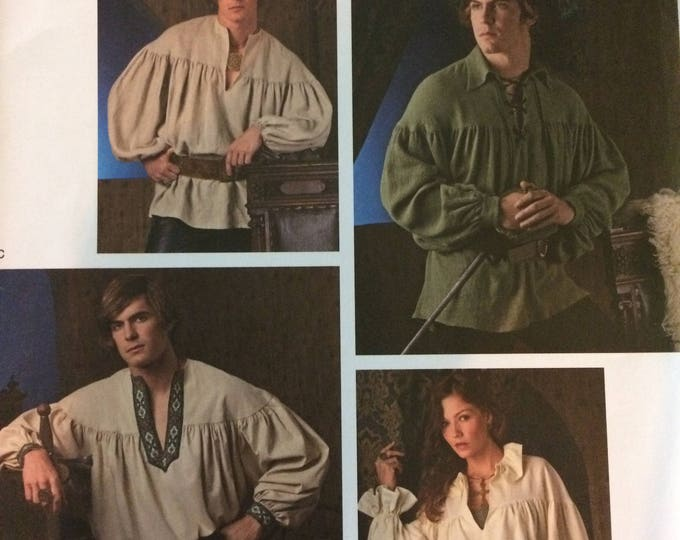 Simplicity Sewing Pattern 3519 Misses, Men and Teen Costumes, A (XS-S-M-L-XL), Pirate Shirt Sewing Pattern