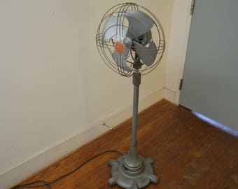 Rare Antique Art Deco GE Vortalex Floor Model Oscillating Fan