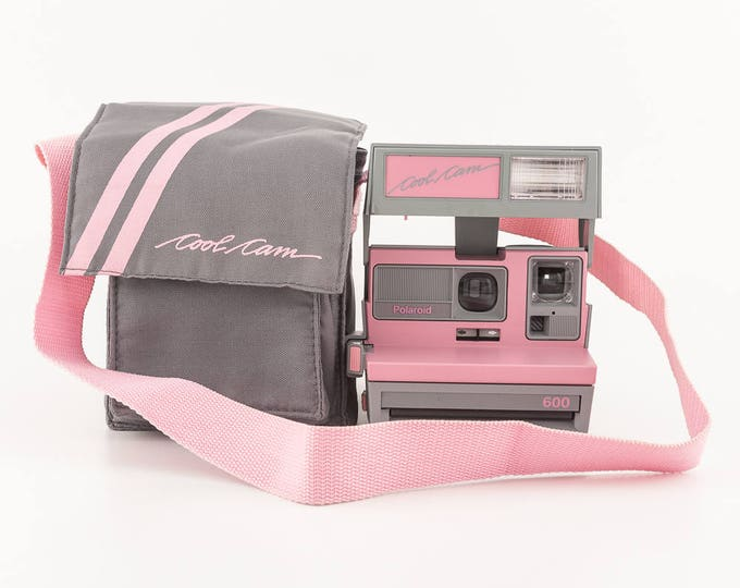 Featured listing image: Polaroid 600 Cool Cam - Pink and Grey with Soft Camera Case - Tested and Working