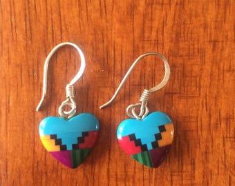 Cute Southwest style heart earrings