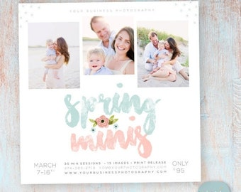 ON SALE Spring Marketing Board Mini Session - Photoshop template - IE021 - Instant Download