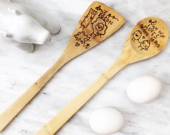 Pun-ny Wooden Spoon