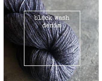 High Wire in Black Wash Denim