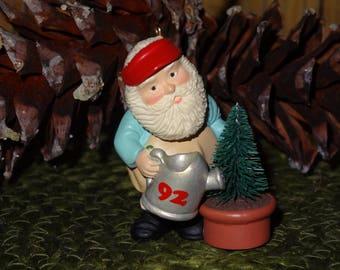 Vintage Hallmark Santa Christmas Ornament / Tree Ornament / Christmas Decor / Santa Decor / Vintage Hallmark / Hallmark Ornament
