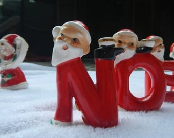 Vintage Hard to Find NOEL Relco Santa Claus Christmas Candle Holder Decoration Figurine Napco Lefton Holt Howard