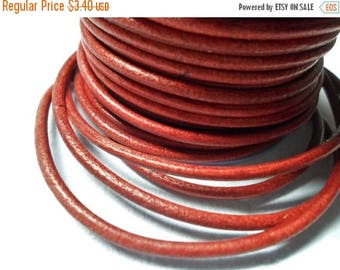 Buy Now 3ft Premium 3mm Vegetable Dyed Distressed Red Leather Cord,