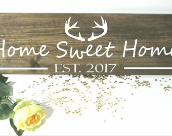 Home Sweet Home Antler Custom Sign