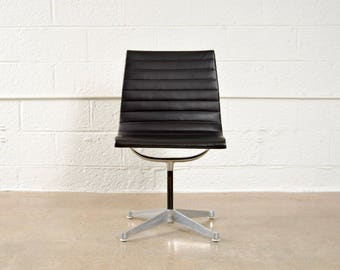 Eames Chair, Mid Century Office Chair, Original Eames for Herman Miller Aluminum Group Side Chair, Vintage