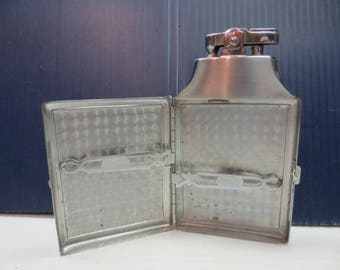 Ronson Vintage Double Decker Lighter and Cigarette Case Combination