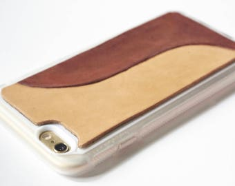 Leather iPhone 8 Case | Stylish Modern Wave