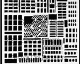 Stencil Girl Products Stencil 9x12, Buildings, L240, Carolyn Dube