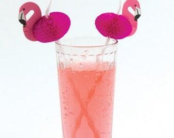 12 x flamingo straws, tropical decor, pink party, flamingo party, drinking straws, tiki bar, cocktail stirrers, luau party, jungle decor