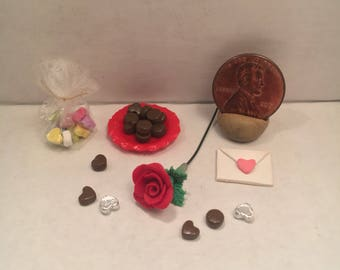 Miniature Valentine's Day Candy Gift Set with Rose
