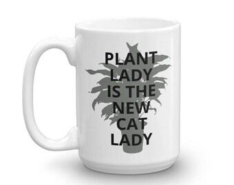 Plant Lady Mug, Plant Mug, White Mug, Funny Mugs, Funny Coffee Mug, Plant Lady, Coffee Mug, Plant Lovers Gift