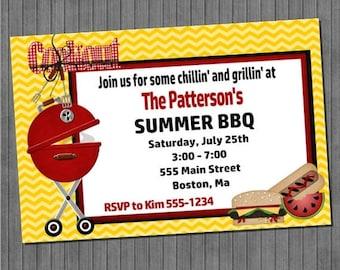 ON SALE Summer BBQ Invitations