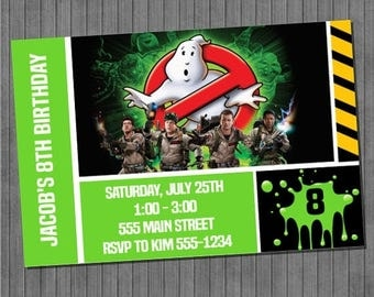 FLASH SALE Ghostbusters Invitations