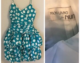 Vintage Ricki Lang 80's Gathered Bubble dress