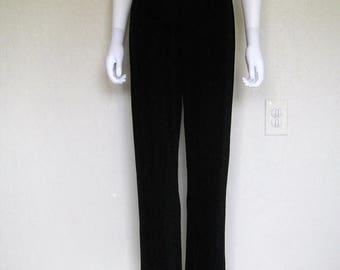 25% off SALE Black Slinky High Waist Pants - small