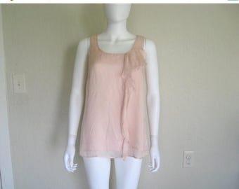 25% off SALE silk ruffle sleeveless top
