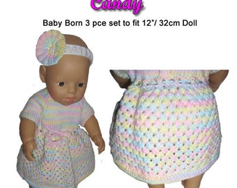 Baby Born Knitting Pattern (CANDY) fits 12 inch (32cm) dolls