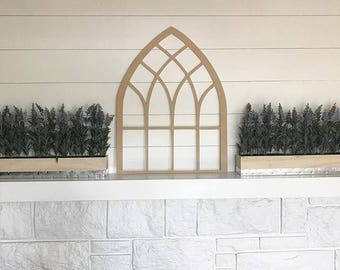 Laser Cut Cathedral Window Arch Farmhouse Style