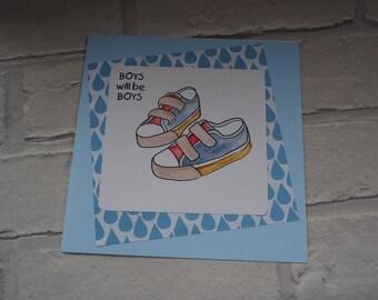 baby boy card/handmade card/congratulations card/ baby card/new baby card/baby boy card/birth card/greetings card/gift card.