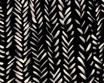 Treasure Hunt by Marcia Derse Frosted Arrow Black with White 43190-17 Fabric BTY
