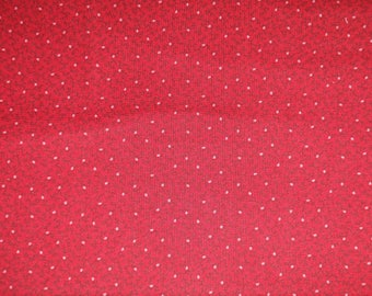 Marcus Gallery in Red Red Tonal with Branch and Dot Fabric R14-0277-0111 BTY