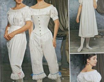 Fashion Historian Simplicity Pattern 1139 Civil War Era UNDERGARMENTS  Misses Sizes 6 8 10 12