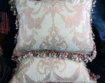 Fortuny Boucher Pillow Pair Handmade 20 x 26 Inches