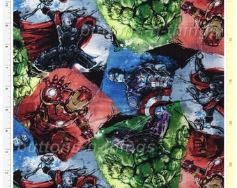 Marvel Avengers Comic Cotton Fabric Springs Creative