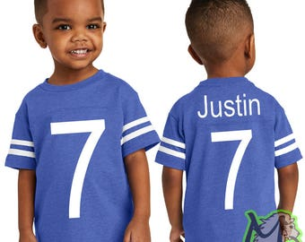 Custom Toddler Football Fine Jersey Tee