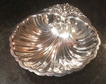 Vintage Silver Plated Baroque by Wallace Shell Dish
