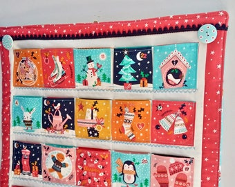 Made to order Merry Little Christmas Advent Calendar, Quilted Advent Calendar, Hanging Advent Calendar, heirloom festive wallhanging