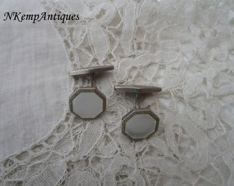 Art deco cufflinks 1920's Mother of pearl