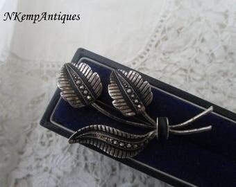 Marcasite brooch 1930's