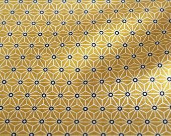 Fabric coated graphic 50 x 70 cm yellow and white