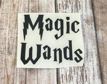 Magic Wands Vinyl Decal Car Laptop Wine Glass Sticker