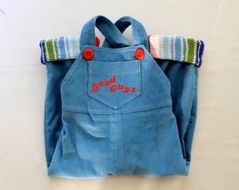Corduroy overalls Chucky Doll, Good Guys, corduroy pants, overalls, jumpsuit