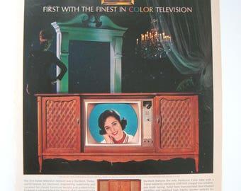 "Dumont Color Print Ad 1964 Retro Ephemera, Dumont Color Television, ""First with the Finest... "" 1960s Decor"