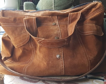 Sweet Suede Large Carryall Bag, Upcycled, Unique and You!
