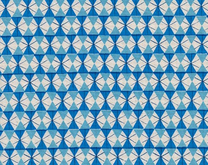 Pre-Sale-Chicken Wire in Bright Blue -Welsummer -Kim Kight for Cotton + Steel