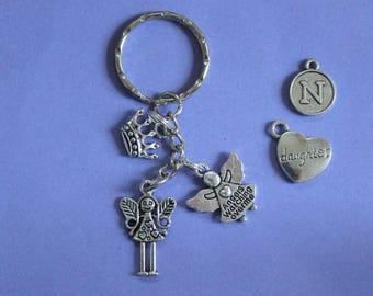 Angel Keyring or Bag Charm,Angel Charm,Fairy Keyring,Gift for Fairy,Crown Charm,Gift for Girl,Fairy Charm,Stocking Filler,Secret Santa