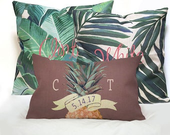 Mr and Mrs Pillow Wedding Pillows cover set.Custom Monogrammed Pillow cover sets with Mr Mrs Name