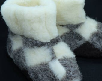 Wool Slippers Booties. Warm and Cosy. Breathable.