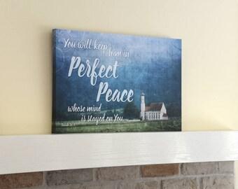 Perfect Peace Bible verse canvas, Isaiah 26:3, Bible canvas, Verse art canvas, verse canvas art, Bible art canvas, Bible canvas art