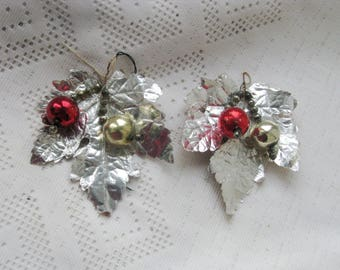 Vintage Mercury Glass Christmas Corsage Ideal for table decorations, boutonnieres, gift wrap trims