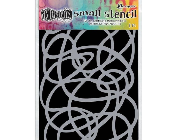 Ranger Dylusions SQUIGGLE Small 5x8 Stencil by Dyan Reaveley